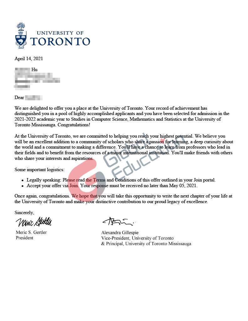 加拿大多伦多大学-计算机科学